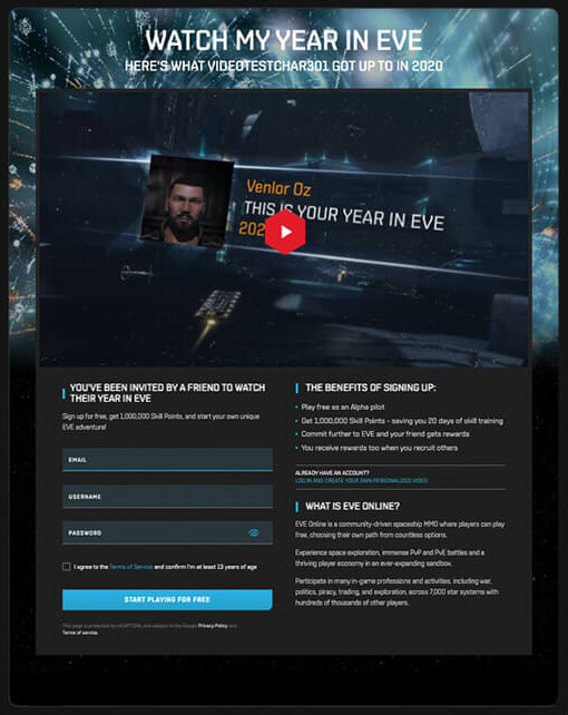 Personalized Video from EVE Online
